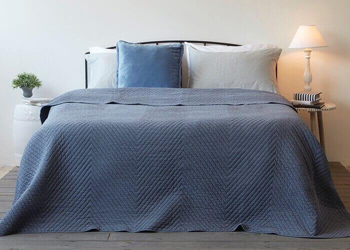 כסוי מיטה יחיד   דגם סטון