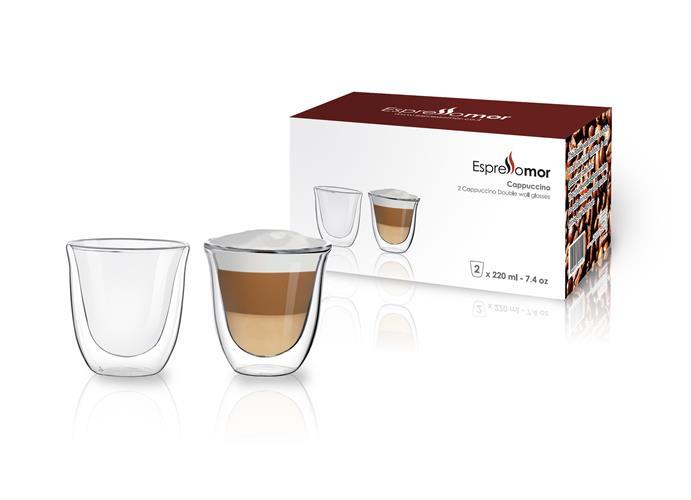 """4 כוסות קפה 220 מ""""ל דופן כפולה"""