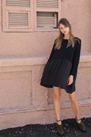 שמלת מאליס אוברסייז כיסים שחורה