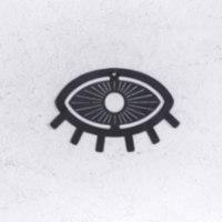 זוג עיניים טובות ממתכת - שחור וזהב
