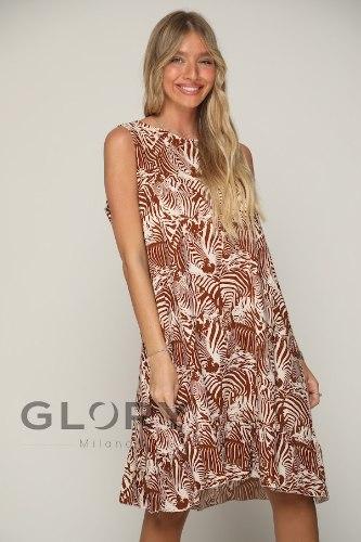 שמלת ויסקוזה זברה GLORY