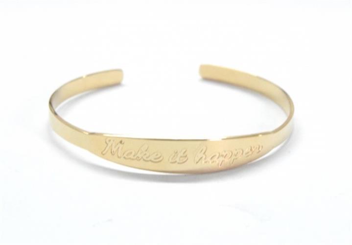 צמיד גולדפילד קשיח עם הטבעת משפט