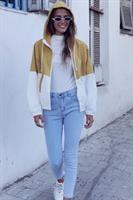 ג'ינס סקיני ג'רי גבוה בייסיק גזור
