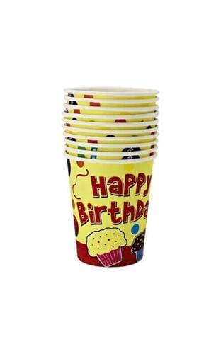 מארז 10 כוסות Happy Birthday