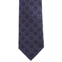 עניבה פרחים סימטרים כחול אפור