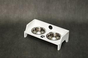 כלי אוכל ושתיה לחתול - שוליקה XS-S לבן ווש