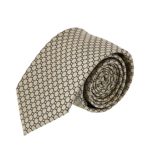 עניבה משושים צהוב