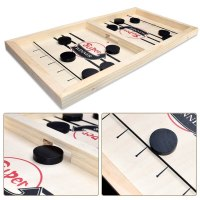 משחק הוקי קלע עשוי עץ