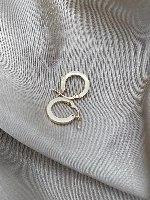 עגילי חישוק פרופיל מרובע זהב S