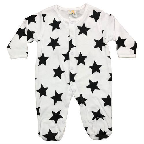 אוברול כותנה כוכבים לבן