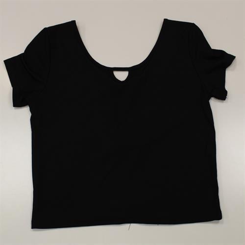 חולצה ריפ גב פתוח שחור