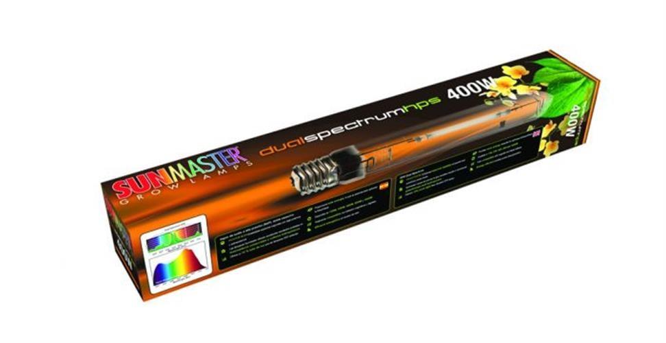 נורה משולבת לזמן הצמיחה והפריחה SunMaster 400W Dual Spectrum Deluxe