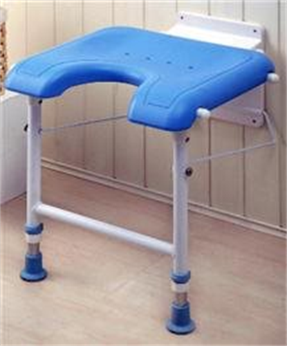 כסא מתקפל למקלחת עם רגליים