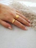 טבעת חותם עיגול זהב