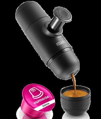 מכונת אספרסו ניידת לשטח wacaco Minipresso CA לשימוש בקפסולות קפיטלי.