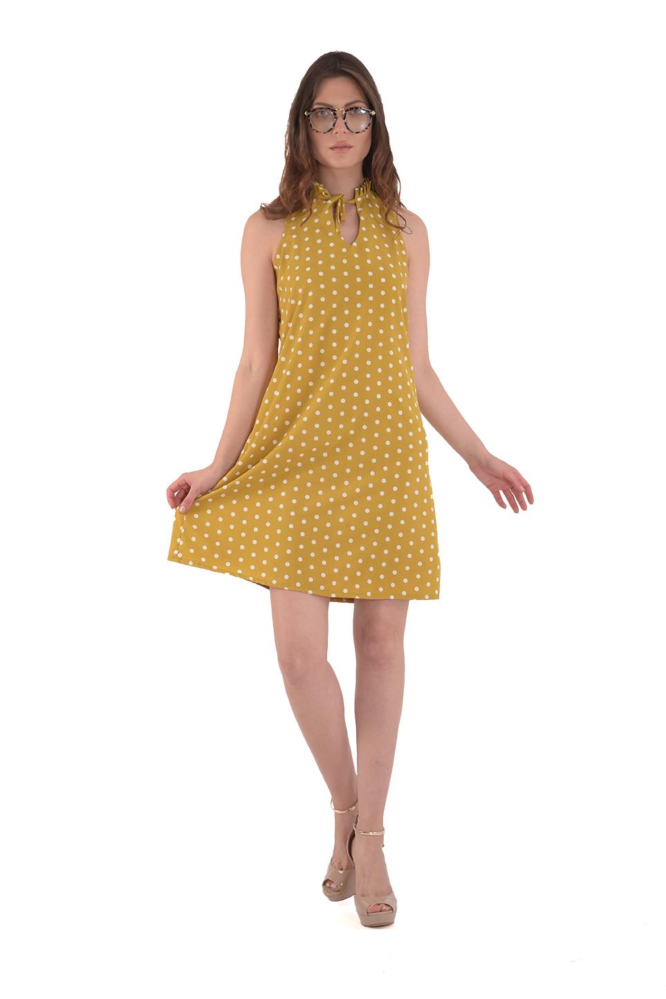 שמלת קייטלין חרדל