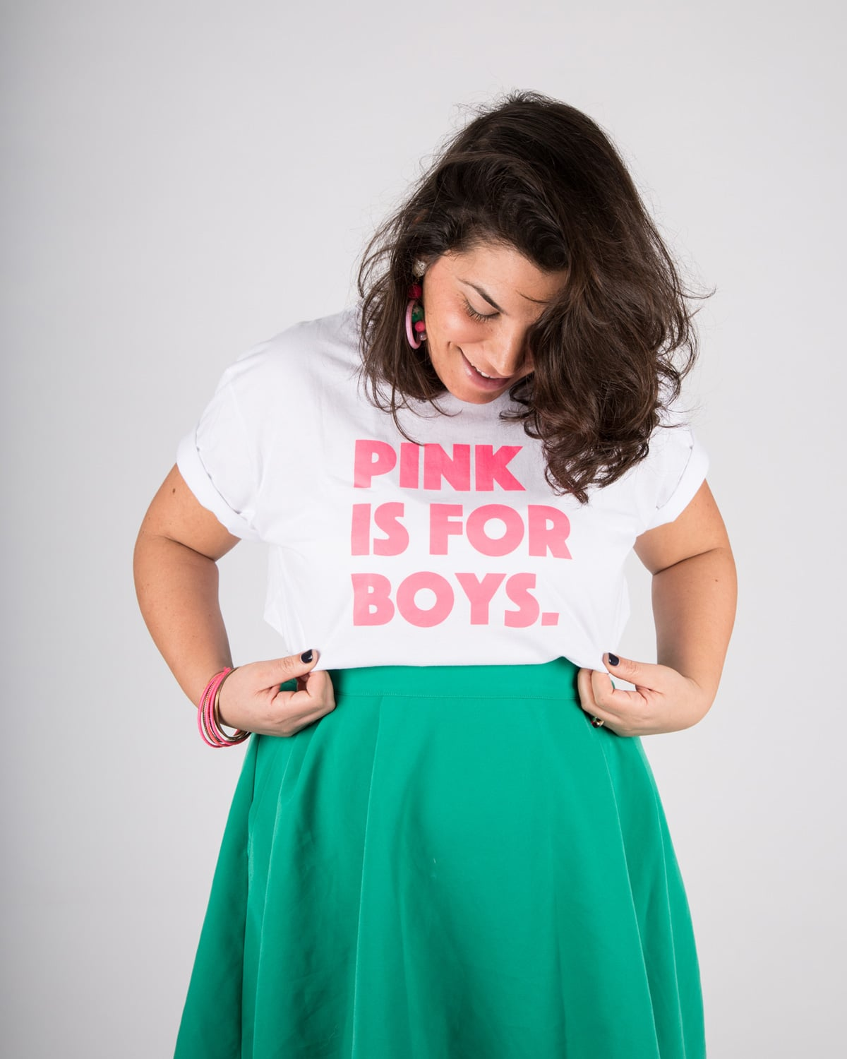 חולצת טי שירט יוניסקס Pink is for boys