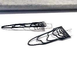 עגילי קווים נוזלים ערוכים