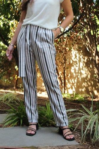 מכנסי פסים קשירה