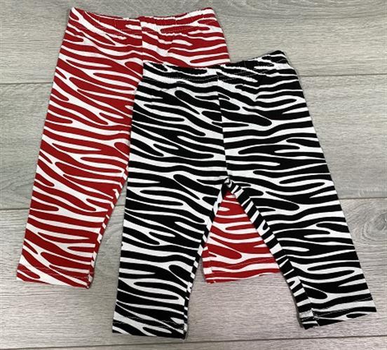 זוג מכנסי לייקרה ארוך זברה אדום ושחור