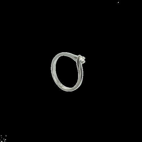 טבעת אירוסין זהב לבן 14K יהלום מרכזי OP07160063208