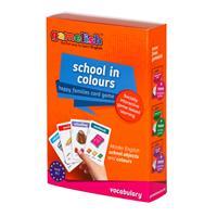 משחק רביעיות gamelish | צובעים את בית הספר School in Colours