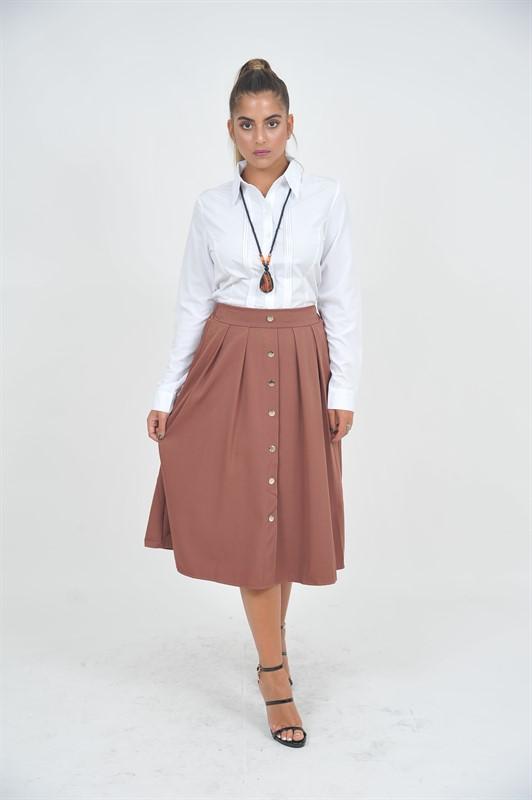 חצאית פריז חומה