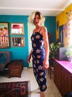 שמלת לייקרה מקסי פרחונית מס' 2 מידה S/M