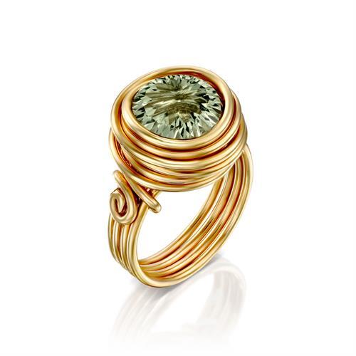 טבעת ריינבו גרין אמטיסט