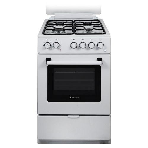 תנור אפיה צר משולב כיריים 52 ליטר Normande KL-505 צבע לבן