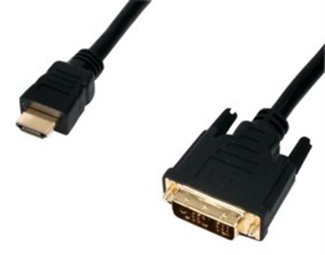 כבל HDMI - DVI מוזהב באורך 10 מטר