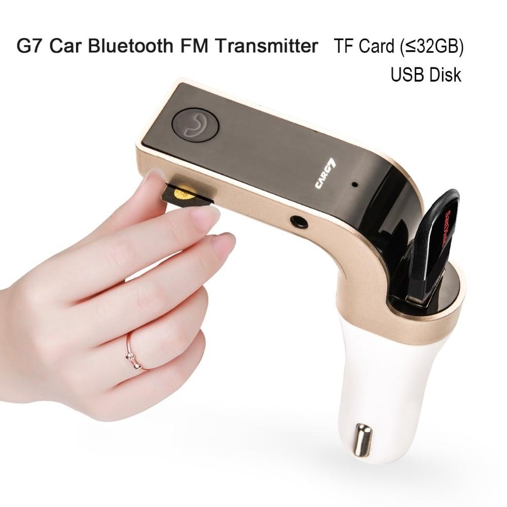 משדר fm לרכב דגם G7+ המשודרג לשמיעת מוזיקה+דיבורית לרכב