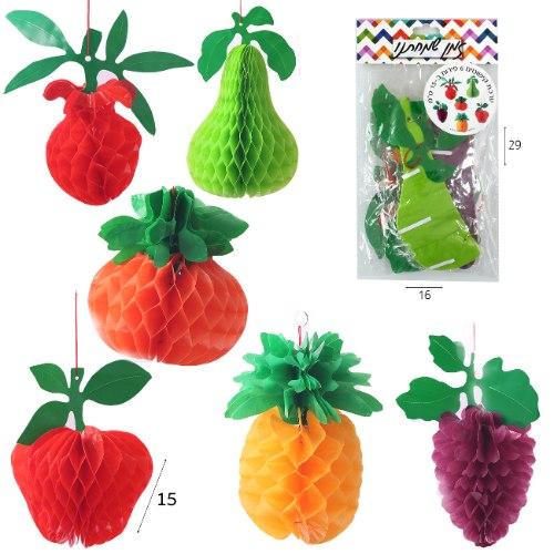 ערכת קישוטים 6 פירות נפתחים 15 סמ