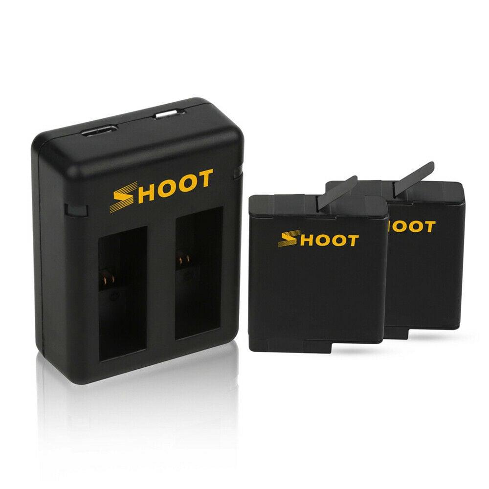 זוג סוללות + בסיס טעינה למצלמת גופרו 5 , 6 , 7