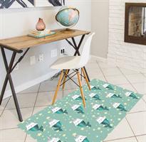 שטיח PVC | דגם חתולים טורקיז