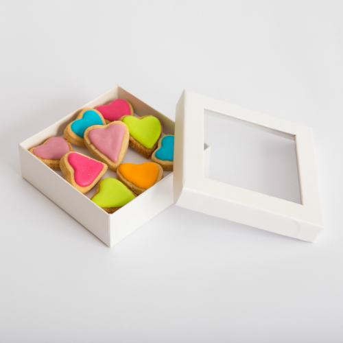 מארז לבבות צבעוני בקופסת תכשיט