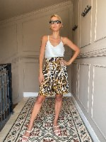 מכנסי CLASSIC קצרים -מנומר צהוב