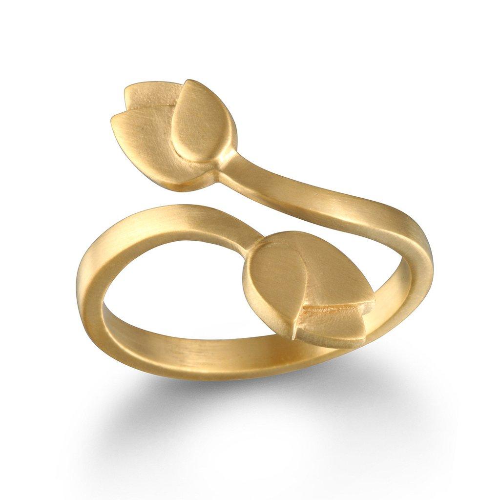 טבעת לוטוס זהב