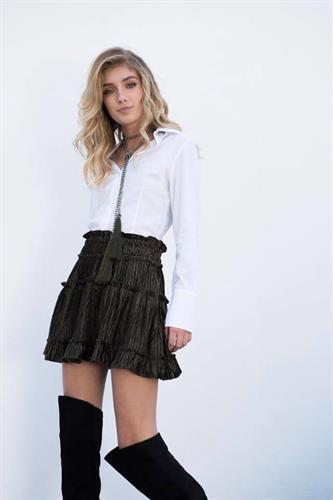 חצאית ולווט גרין