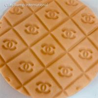 Chanel Embossed Brand Stamp Impression | CHANEL LOGO TEXTURE MAT