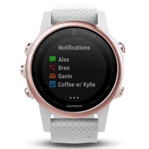 Garmin Fenix 5S Rose Gold Sapphire with White Band