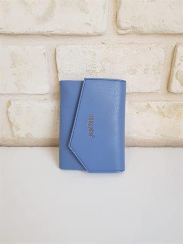 ארנק דמוי עור כחול 4003