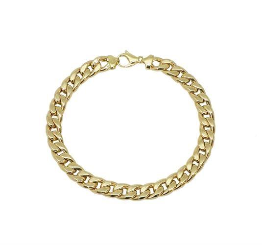 צמיד חוליות זהב 14 קארט צהוב אלגנטי