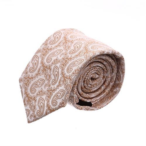 עניבה פייזלי בז' זהב