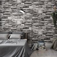 """טפטים מהממים לקיר בסגנון לבנים נגד מים וחום! תלת מימד!  - בגודל של 10 מטר * 50 ס""""מ"""