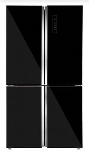 """מקרר 100 ס""""מ פרטלי 4 דלתות 680B זכוכית שחור"""