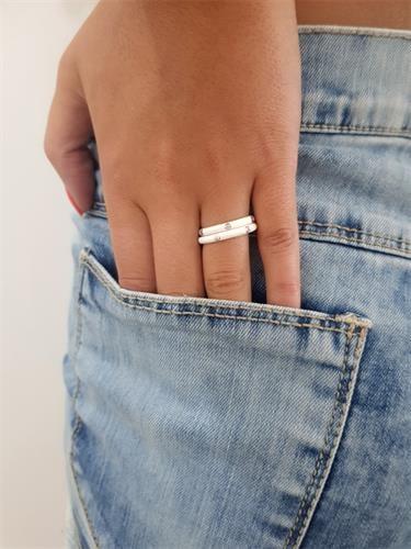 טבעת חלקה זירקונים