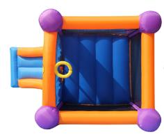מתקן קפיצה זיקוקים כולל מגלשה - קפיץ קפוץ