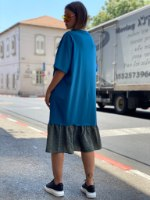 שמלת שייני שילוב פייטים