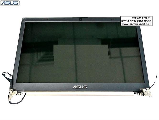 קיט מסך להחלפה כולל גב מסך , מסגרת מסך , ציריות וכבל מסך למחשב נייד אסוס Asus Zenbook U46E Laptop lcd screen display assembly